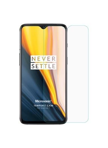 Microsonic OnePlus 7 Tempered Glass Cam Ekran Koruyucu Renksiz